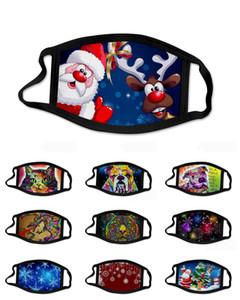 Partido de la máscara de algodón Mascarilla de Navidad reutilizable lavable anti polvo máscaras de cara de Halloween máscara protectora del envío