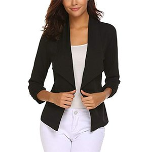 black Office Ladies Blazer Feminino2020Slim Work Blazers Mujer Lady short Coats Lapel Formal Outwear Female Casual white Jackets