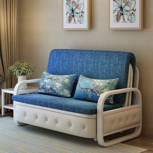 소파 침대는 듀얼 사용 이중 거실 1.5m 단일 1.8m 다기능을 제거하고 3 인 소파 침대를 씻을 수 있습니다.
