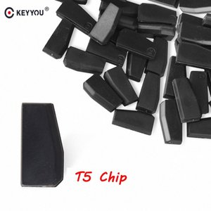 KEYYOU 5x 10x 20x 50x T5 20 Transponder Chip em branco carbono T5 Cloneable Chip Para Car Auto Key Cemamic chave do carro T5 New 3NwW #