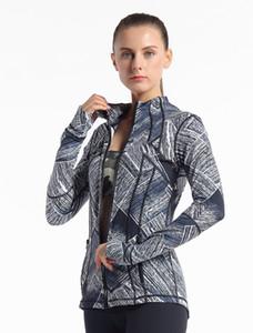 Abbigliamento sportivo a maniche lunghe T-shirt Donne ginnastica di yoga collant a compressione di Donne per yoga di forma fisica di formazione Zipper Jacket
