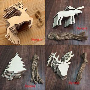 Arbre de Noël Décoration Pendentif Artisanat en bois fait main bricolage petits cadeaux Maison Décoration de Noël Fournitures de fête Livraison gratuite