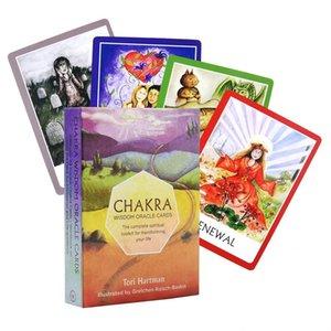 Consola de jogos Jogo de cartão de Tarot Edição Partido Conselho de Família Board Chakra Tarot Tarot jogo 1 cartão mágico cartões Inglês Mysterious sweet07 bbyszd