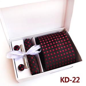Fashion Polka Dot Dot Tie Set Business Dress Wedding Tie 6-piece Set Commuter Polyester Silk Fashion Dress Suit Sets