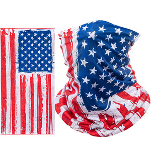 Cycling Masks Sports Mask America Flag Masks Scarf Motorcycle Scarves Outdoor Half Face Mask Fashion Cycling Head Scarf YFA2096