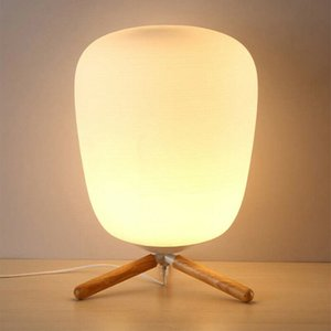Modern Warm White Lantern The Lights Fest Frosted Glass Lampshade Table Lamp USA