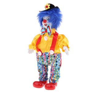 23cm en porcelaine Clown Doll avec Belle tenue et le visage en céramique, cadeau pour les amoureux ou Clown Doll Collector, Halloween Props, Décoration d'intérieur Bureau