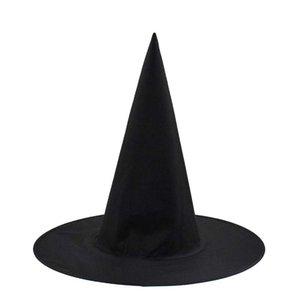 Decoração de Halloween Witch Masquerade Party Hat Mulheres Preto Witch Hat Assistente Top Caps Cap Partido Acessório Halloween Costume