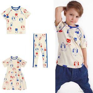 2020 Nouveau Mini R été Bébés filles Robes Ensembles pour enfants Mode Sport Costume T-shirt Pantalons Vêtements d'enfants Vêtements de Noël garçons