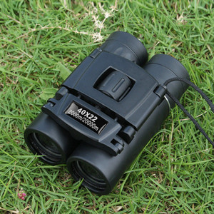 40x22 HD Powerful Binoculars 2000M Long Range Folding Mini Telescope BAK4 FMC Optics For Hunting Sports Outdoor Camping Travel