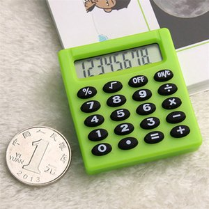 6 Color Calculators With Standard Functions, Student Large Lcd Screen Electronic Desktop Accounting Office Calculator Mini Version Hot Sale