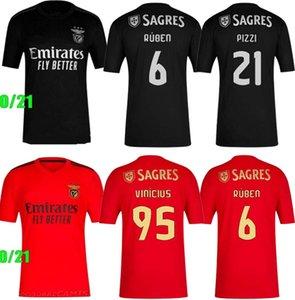 20 21 SL camisas de futebol Benfica em casa de distância 2020 2021 RAFA jota Pizzi GRIMALDO Rúben T Seferovic Vinícius homens crianças kit camisa de futebol uniformes