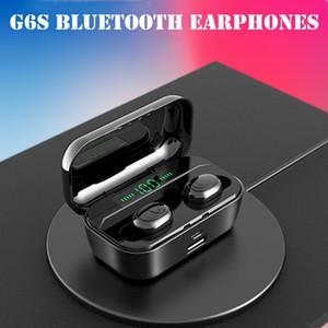 G6S سماعات بلوتوث TWS لاسلكية 5.0 يدوي سماعة الرياضة باس سماعات ماء سماعة مع مايكروفون 3500 مللي أمبير