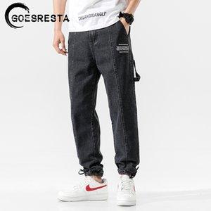 Goesresta Moda japonesa calças jeans masculinas 2020 Vintage Hetero Calças Hip Hop Streetwear Harem Pants Harajuku Baggy Jeans