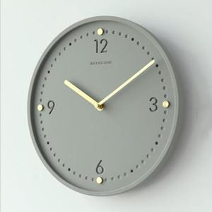 Cemento scandinava Orologio da parete con pendolo metallo industriale del vento Camera silenzioso Ago orologio Soggiorno 11 pollici rotonda