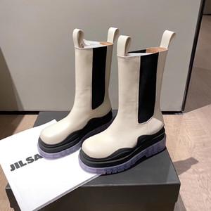 Bottega Veneta 2020 Top boot mode MID-CALF BOTTES EN TEMPÊTE femmes bottes plate-forme CUIR nouvelle Marque dame femmes design botte luxe bottes