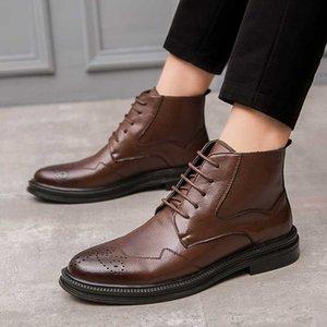 Stivali Italian Brand Designer Uomo Fashion Party Nightclub Dresses Caviglia Scarpe in vera pelle Ambientazione esterna Ambientazione esterna Breve Boot Boot Boot Boto