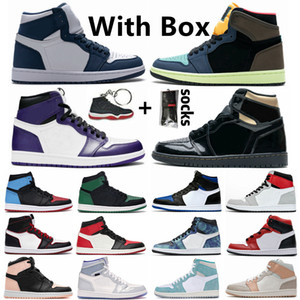 nike jordan 1 retro air jordan 1 Bio Hack Royal Toe Pine Green 1s Uomo Donna Scarpe da basket Court Purple Obsidian 1 UNC Tie Dye Luck Green Sports Sneakers