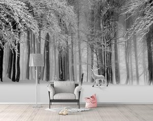 Custom Photo Wall paper 3D forest 3D Background Wall Wallpaper Mural Home Decor Wall Painting Wallpaper For Walls