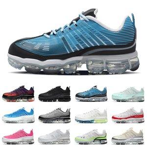 Metalik Gümüş Erkek 360 Koşu Ayakkabıları Degrade Üst Varsity Kraliyet Üçlü Beyaz Siyah Kadınlar Sneakers Erkekler Spor Eğitmenler Açık Ayakkabı