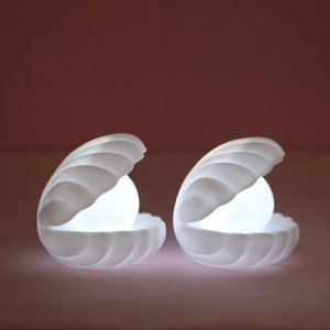 Lovely Pearl Shell Night Light Streamer Fairy-tale Shell Night Light Creative Romantic Bedside Night Light Home Decoration Christmas Gift