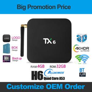 TX6 Android 9.0 TV BOX 4GB+32GB Allwinner H6 Quad Core Dual Wifi 2.4G&5G With BT x96 mini T95 Smart tv box