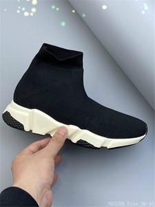 2020 Stretch Sock Fashion Flats Elastic Shoes Outdoor Female balanciaga Slip Trainers balenciaca Sneakers Shoes Women men Size 36-45 B03