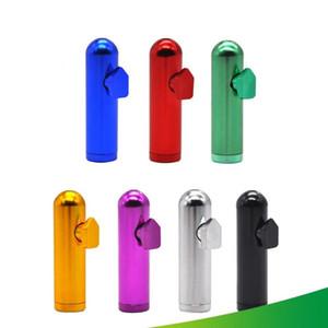 Metallo Snuff Bottle pallottola del metallo a forma di tabacco da fiuto Pippotto Sniff Dispenser nasale tubo di fumo Sniffer Bong Endurable tabacco Smok tubo WY569