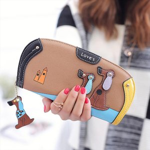 Fashion Women Wallets Handbags Coin Purse Dog Print Long Clutch Wallet Cards ID Money Holder Bags Monederos Para Mujer