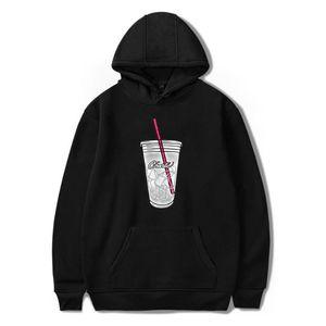 Uomo Felpe con cappuccio Charli Damelio Ice Caffè felpate delle donne degli uomini di Hip Hop Streetwear vetements Harajuku rosa vestiti