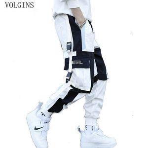 Multi poches de Streetwear hommes Pantalons Cargo Harem Hip Hop Pantalons simple Homme Pantalons Mode piste Joggers Harajuku homme Pantalons MX200323
