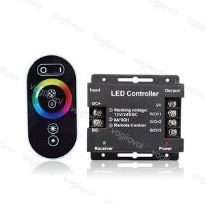 RGB 컨트롤러 12-24V 18A RF 원격 무선 터치 패드 패널 조명 액세서리 5050 3528 RGB 빛 RGB 컨트롤러