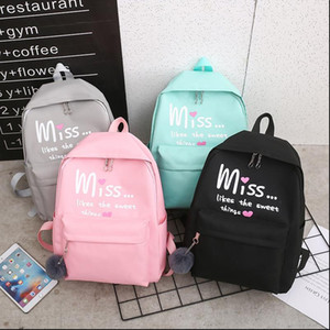 4Pcs set Women School Backpacks Nylon Schoolbag For Teenagers Girls Student Book Bag Boys Mochilas Sac A Dos