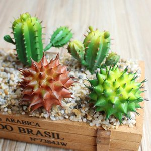 1pc Artificial Succulent DIY Flocked Lifelike Aloe Cactus Artificial Plant Fake Succulent Home Desk Decoration DIY Accessories