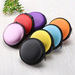 Mix Farben Kopfhörer-Halter Tragen harter Beutel-Kasten-Kasten für Kopfhörer Zubehör Earbuds Speicherkarte USB-Kabel freies Verschiffen