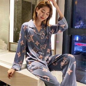 Traje del kimono de seda para mujer Establece Mujer Señora del camisón del vestido de baño impresa flor ropa de dormir ropa de dormir niña suave Albornoz satén camisón # 681