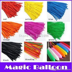 ht hxldoor 100p Long Shape Twisting Magic Balloons Party Christmas Birthday Decoration Balloons Latex Baloon for Kids Supplies DIY Toy 260Q