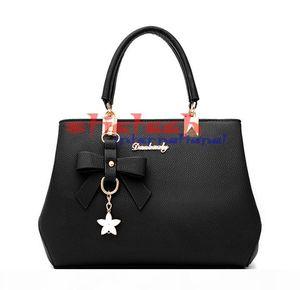 by dhl or ems 50pcs Bowknot Women Bag Handbag Female Shopping Bag Crossbody Shoulder Waterproof PU Leather