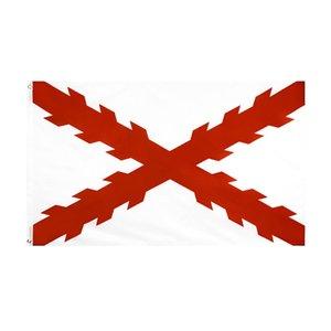 Оптовая свободная перевозка груза 100% полиэстер 3 * 5 FTS 90 * 150см висит крест Бургундии испанской империи Флаг Для украшения