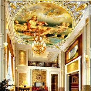 European-style Mythological Character Angel Oil Painting 3D Photo Wallpapers Hotel Living Room Ceiling Decor Mural Wall Paper 3D