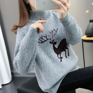 Sweater Women's 2020 Loose New Style Winter Knitted Bottoming Sweater with Long Sleeves