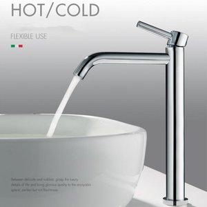 Vidric Chrom-Badezimmer-Wannen-Hahn-heiße und kalte Einhebel-Waschtischarmatur Nordeuropa-Art-Gesamt Messing