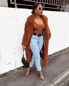 Oversize Kalın Sıcak Hırka Palto Casual Uzun Kollu Kış Ceket Tasarımcı Katı Palto moda Womens