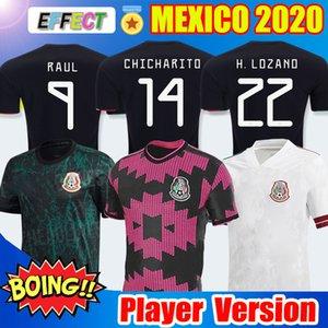 Oyuncu Versiyonu Mexico Soccer Jersey 2020 Meksika Futbol Forması Ulusal Yeni Deplasman Beyaz 19 20 Siyah CHICHARITO LOZANO GUARDADO CARLOS VELA RAUL 2019 Futbol formaları
