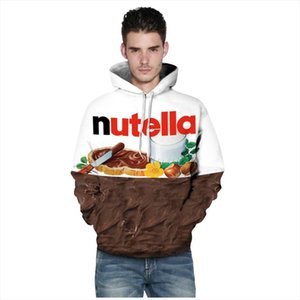 Men Women New Fashion Spring Autumn Hoodies With Cap 3d Print Nutella Food Hip Hop Sweatshirts Hoodie Tracksuits Tops