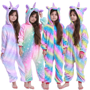 Kigurumi Stitch Kids Pajamas Unicorn Pajamas For Children Animal Cartoon Blanket Baby Costume Winter Boy Girl Licorne Onesie