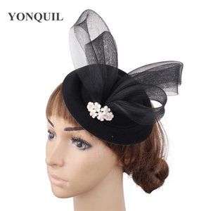 Wool felt vintage headwear for party women formal fedora cap hair pin bridal wedding new hair accessories ladies show headpiece