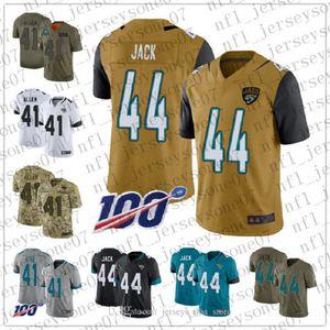 2020 Jacksonville juventude Mens personalizadojaguares41 Josh Allen 44 Myles Jack preto branco temporada de futebol 100 Vapor limitada Jersey