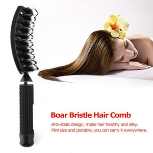 CB005 Pig Hairy Big Curved Haar-Bürste Massage-Kamm Griff Anti-Rutsch-Art-Tangle Haare kämmen für jede Frisur Plastic Products Comb