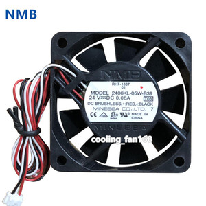 For NMB 2406KL-05W-B39 Axial fan 24VDC 0.08A 60*60*15MM 3pin Inverter  Fanuc cooling fan